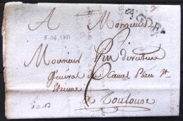 Marque Linéaire De AGDE.  5/6/1781.    Indice 17 - Marcophilie (Lettres)
