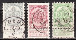 81/83  Armoiries - Série Complète - Oblit. - LOOK!!!! - 1893-1907 Armoiries