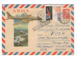 RUSSIA RUSSLAND CCCP AIRMAIL 16.5.1962 MOSKVA - PULA JUGOSLAVIA  COVER PLANE - 1923-1991 URSS