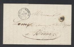 ALLIER 03 AINAY LE CHATEAU Tad Type 15 Et Taxe DT 25 7 Janvier 1852 OR = Tronçais TTB - 1849-1876: Classic Period