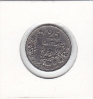 25 CENTIMES Nickel 1904 - F. 25 Centesimi