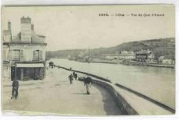 Cp Creil Vue Du Quai D´amont Dos AR BOUVANCOURT Le 5 Avril 1914 - Creil