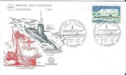 Premier Jour D´émission/Militaria/ Marine/Sous Marin Le Redoutable/1969      PJE5 - Non Classificati