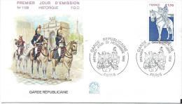 Premier Jour D´émission/Militaria/ Garde Républicaine/1980      PJE8 - FDC