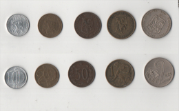 Mon021 Lotto N.5 Monete Repubblica Socialista Cecoslovacchia, Czecholovakia, Ceca, Koruna, Haleru - Tschechoslowakei