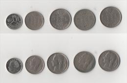 Mon020 Lotto N.5 Monete Belgio, Belgie, Belgique, Franchi, Francs - 1951-1993: Baudouin I