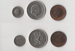Mon018 Lotto N.3 Monete Netherlands, Olanda Paesi Bassi, Regina Juliana - 1948-1980 : Juliana