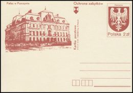"""Poland 1981, Postal Stationery """"Protection Of Monuments - The Palace In Pless"""", Cp 786, Mint - Stamped Stationery"""