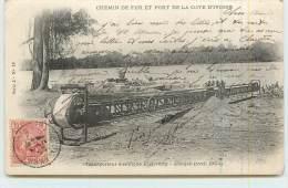 CHEMIN DE FER ET PORT DE LA COTE D´IVOIRE  - Transporteur électrique Etchverry, Abidjan  (avril 1904). - Ivory Coast