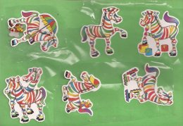 Manualidades, Cartulina Cebras - Cromos