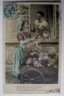 THEMES - METIERS - La Bouquetière   1907 - Kunsthandwerk