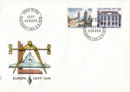 CEPT - Europa - 1978 - Zwitserland - Michel 1128 - 1129 - 1978