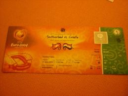 Switzerland-Croatia Euro 2004 Football Match Ticket Stub 13/06/2004 (Croatian Related) - Match Tickets