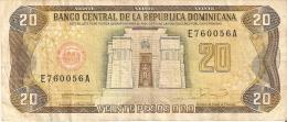 BILLETE DE REP. DOMINICANA DE 20 PESOS ORO DEL AÑO 1990 SERIE E (BANKNOTE) - República Dominicana