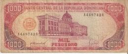BILLETE DE REP. DOMINICANA DE 1000 PESOS ORO DEL AÑO 1988 SERIE A (BANKNOTE) - República Dominicana