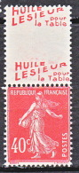 DOUBLE PUB LESIEUR TYPE SEMEUSE  N � 194  NEUF** LUXE  / MNH
