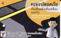 Thailand BTS Card  Ticket  Comic People  Red  Arrow - Eisenbahnen