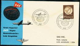ARCTIC,Flight Over NORTH POLE, SAS Stockholm-Los Angeles 15.11.1954 !! - Polar Flights