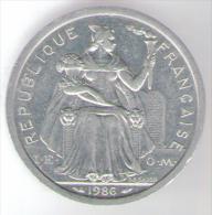 POLINESIA FRANCESE 2 FRANCS 1986 - Polinesia Francese