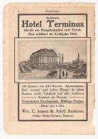 Doc Copenhague, Hotel Terminus - Documentos Antiguos