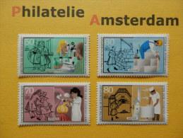 Germany West 1986, JUGEND HANDWERKSBERUFE AMBACHTEN PROFESSIONS: Mi 1274-77, ** - [7] República Federal