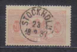 Sweden Mi Dienst 7 , Cancellation  STOCKHOLM 23.2. 1887 - Suède
