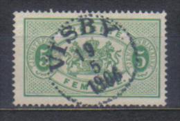 Sweden Mi Dienst 2 , Cancellation  VISBY 19.05. 1906 - Suède