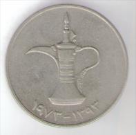 EMIRATI ARABI 1 DIRHAM 1973 - Emirati Arabi