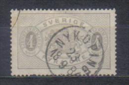 Sweden Mi Dienst 2 , Cancellation  NYKOPING 18.09. 1884 - Suède