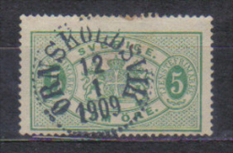 Sweden Mi Dienst 3 , Cancellation  ORNSKOLDSVIK 12.01. 1909 - Oblitérés