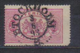 Sweden Mi Dienst 10 , Cancellation  STOCKHOLM 3.06. 1893 - Suède