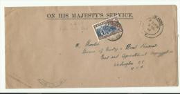 """N° 258 (temple De La Dent) Sur Lettre De Colombo """"on Her Majesty's Service, 1948 Pour Washington - Sri Lanka (Ceylon) (1948-...)"""
