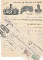 ANGERS 49  - Facture + Traite - Plombs De Chasse - Laumonier 1935 - France