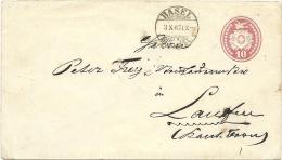 1867 Früher 10 Rp. Tüblibrief Von Basel Nach Laufen - Stamped Stationery