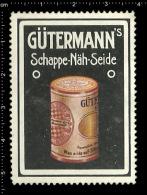 Original German Posterstamp Cinderella Reklamemarke Gütermanns Schappe - Näh - Seide Sewing Silk - Erinnophilie
