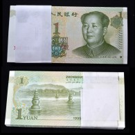 100PCS CHINA Chinese 1 YUAN 1999 UNC BANKNOTE PAPER MONEY CURRENCY Original Bundle. - Mezclas - Billetes
