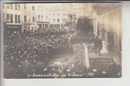 L 1000 LUXEMBURG, Kammereröffnung 11.Januar 1916, Photo-AK - Luxembourg - Ville