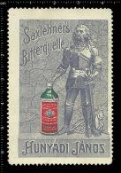 Original German Posterstamp Cinderella Reklamemarke Saxlehners Bitterquelle - János Hunyadi Water Bottl Wasser Bottl - Vignetten (Erinnophilie)
