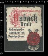 Original German Posterstamp Cinderella Reklamemarke Cognac Asbach Uralt Trinken Drink - Wines & Alcohols
