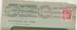 Pigeon, Voyage, Amour, Protection - Flamme Krag - Devant D'enveloppe  (M564) - Pigeons & Columbiformes
