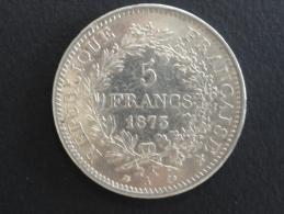 1873 A - 5 Francs Argent Hercule - ECU - J. 5 Francs