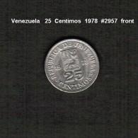 VENEZUELA    25  CENTIMOS  1978  (Y # 50.1) - Venezuela