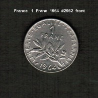 FRANCE    1  FRANC  1964  (KM # 925.1) - France