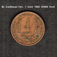 EAST CARIBBEAN TERRITORIES     1  CENT  1965  (KM # 2) - East Caribbean States
