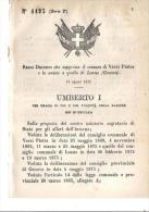 LOANO,VERZI PIETRA.R.D.CHE SOPPRIME IL COMUNE DI VERZI PIETRA E LO UNISCE A LOANO - 1878-N.4493-X590 - Decreti & Leggi