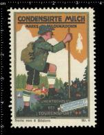 Original German Posterstamp Cinderella Reklamemarke Condensed Milk - Climbing Mountaineering Klettern Bergsteigen - Cinderellas
