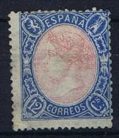 Spain: 1865, Mi 69 MH/*  CV 500 Euro