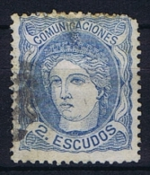 Spain: 1870 Michel Nr 106 Used  Short Perfo - 1868-70 Provisional Government