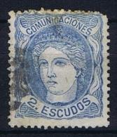 Spain: 1870 Michel Nr 106 Used  Short Perfo - Gebraucht