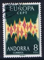 Andorra Spanish, Mi Nr 71 Europa 1972